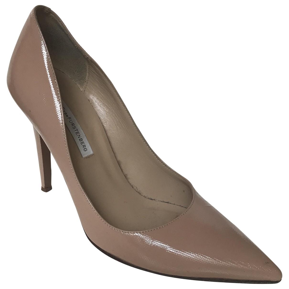 Diane Von Furstenberg - Escarpins   pour femme en cuir verni - rose