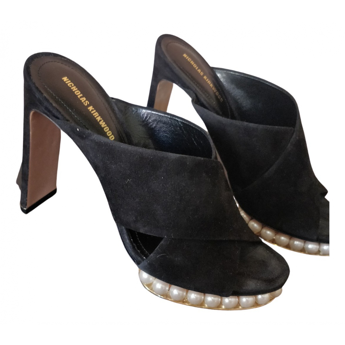 Nicholas Kirkwood \N Black Suede Sandals for Women 38 EU