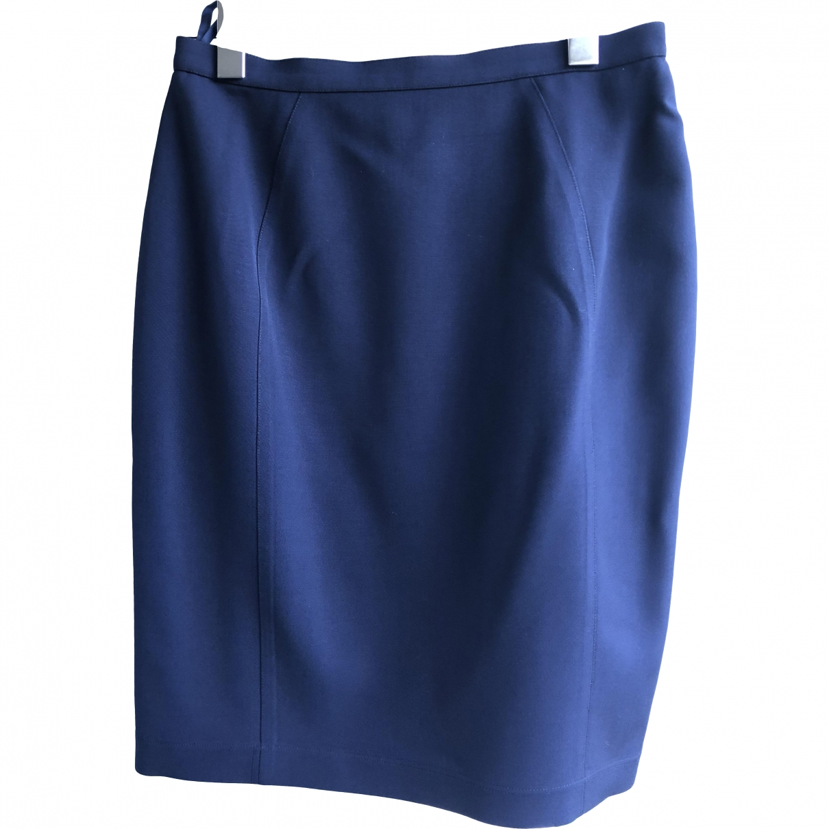 Thierry Mugler \N Navy Wool skirt for Women 42 FR
