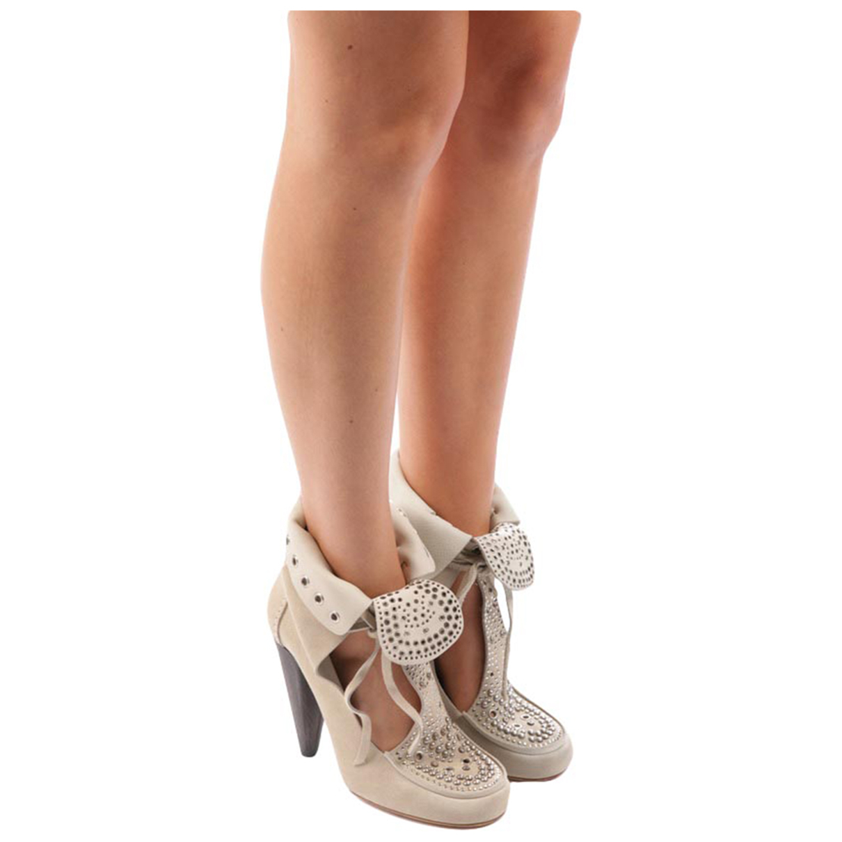 Isabel Marant \N Beige Leather Ankle boots for Women 40 EU