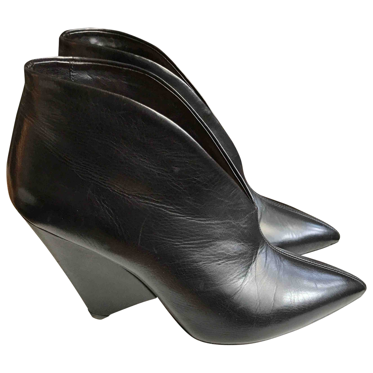 Isabel Marant \N Black Leather Ankle boots for Women 38 EU