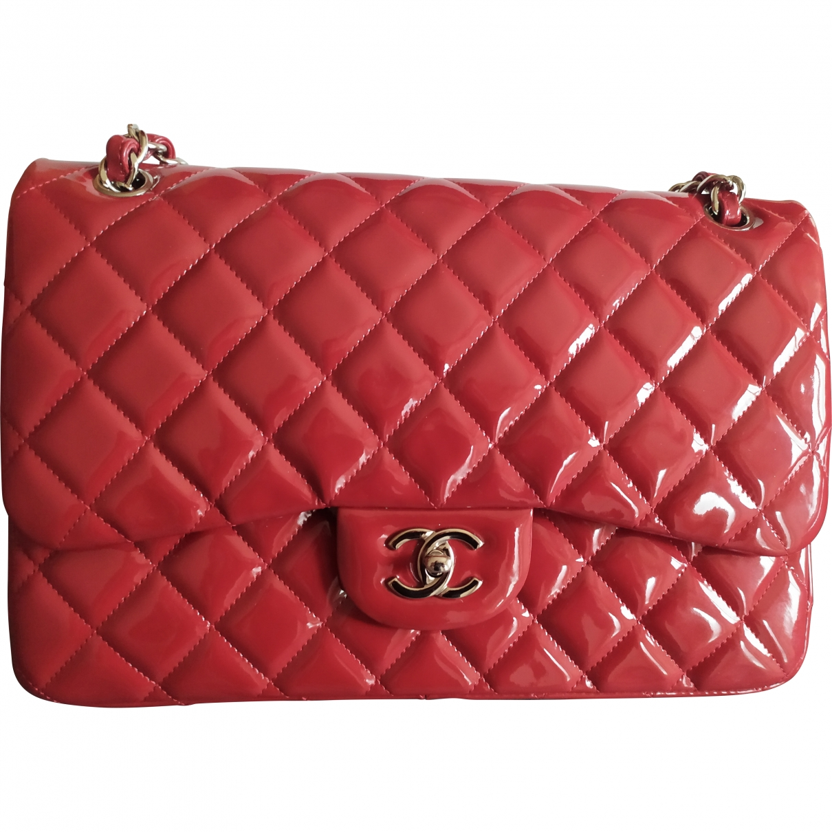Chanel Timeless/Classique Red Patent leather handbag for Women \N