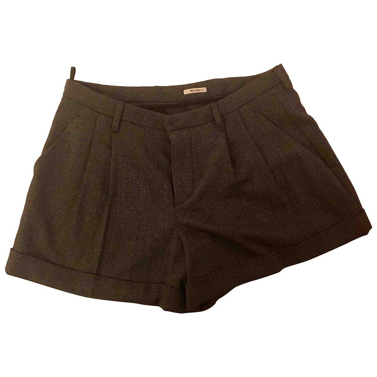 Miu Miu \N Shorts in  Grau Wolle