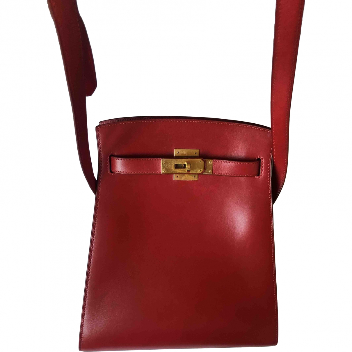 Hermès Kelly Sport Red Leather handbag for Women \N