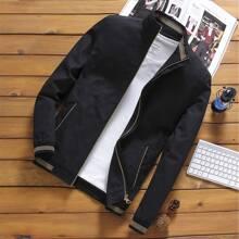 Jacke mit Streifen und Reissverschluss