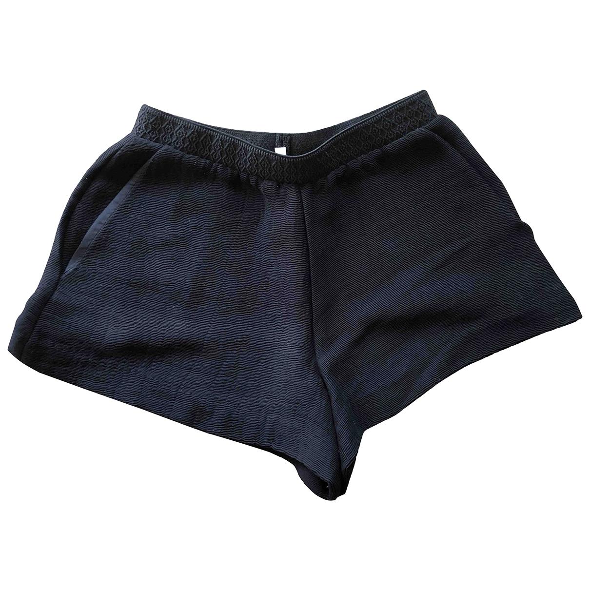 Maje \N Shorts in  Schwarz Baumwolle