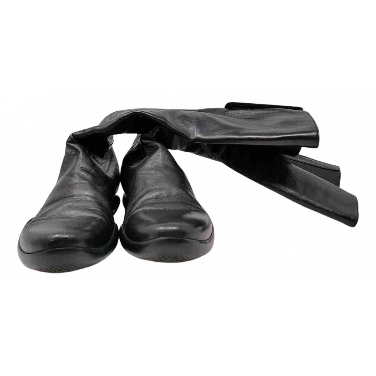 Prada N Black Leather Boots for Women 41 IT