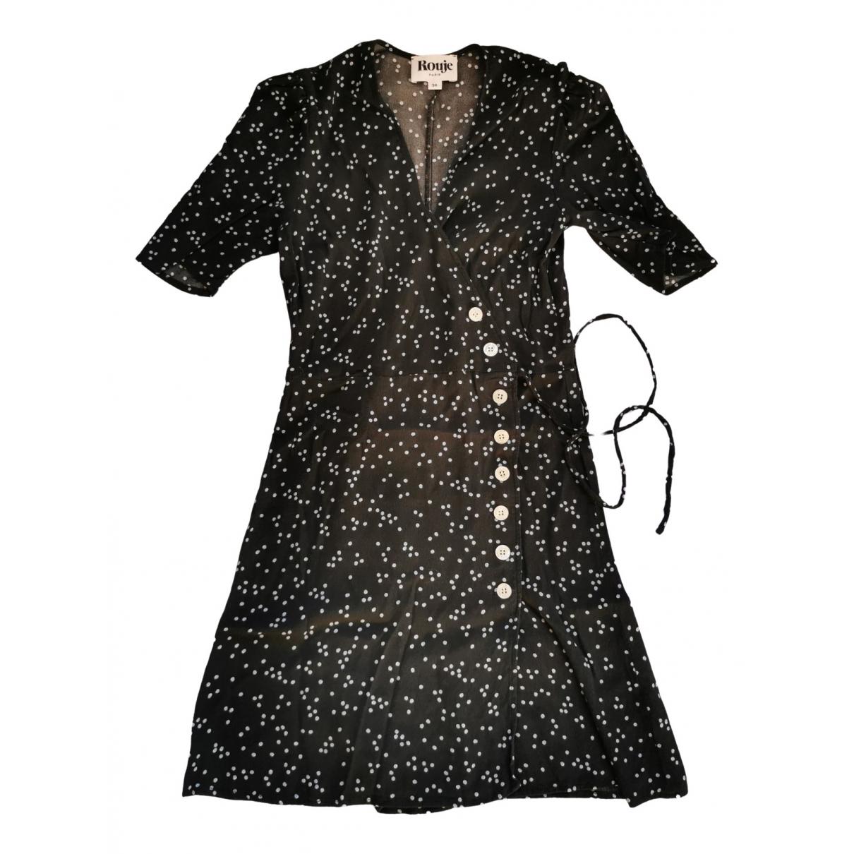 Rouje Gabinette Kleid in  Schwarz Viskose