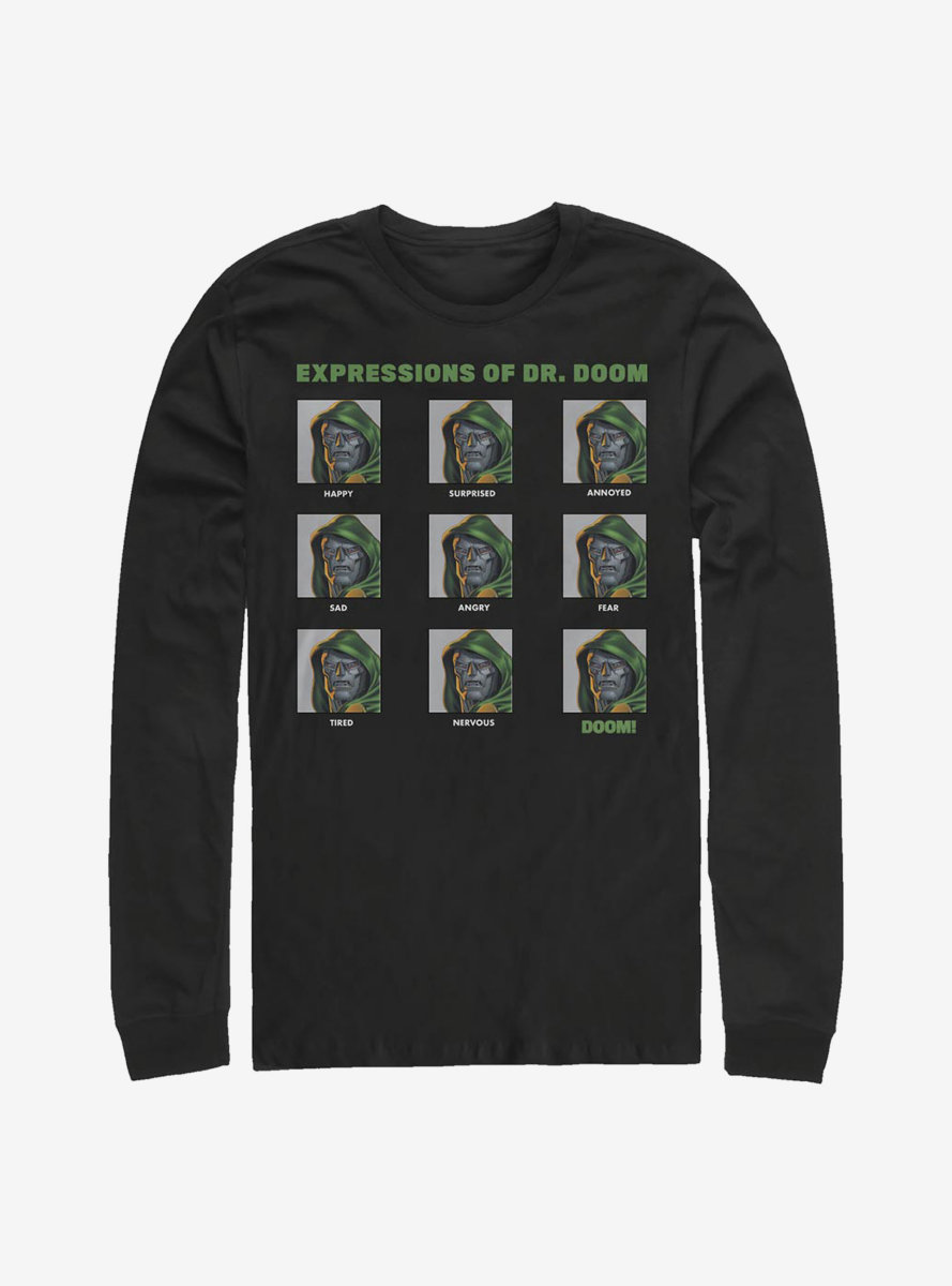Marvel Fantastic Four Expressions Of Doom Long-Sleeve T-Shirt