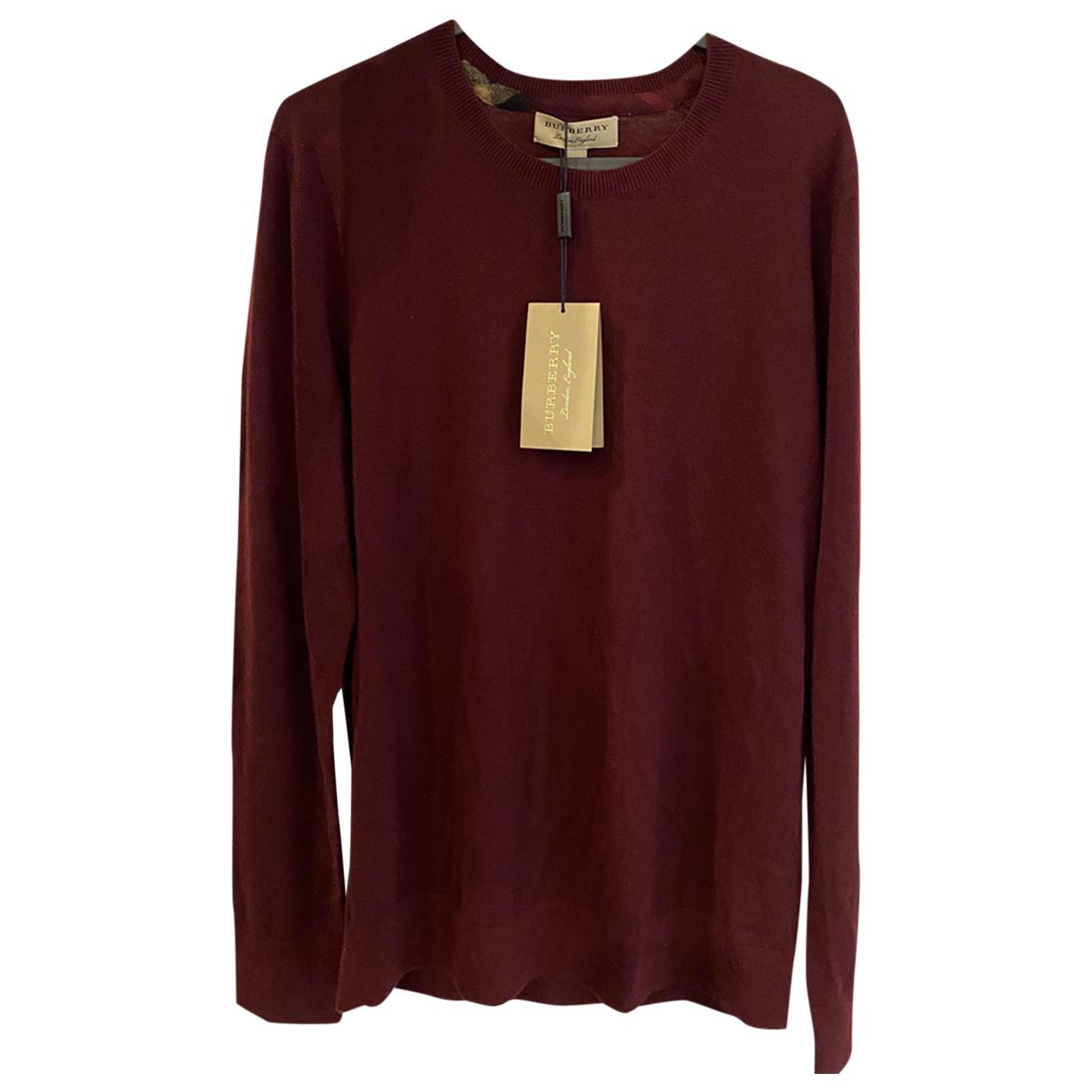 Burberry \N Pullover.Westen.Sweatshirts  in  Bordeauxrot Kaschmir