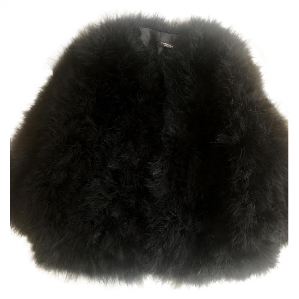 Yves Salomon - Veste   pour femme en fourrure - noir