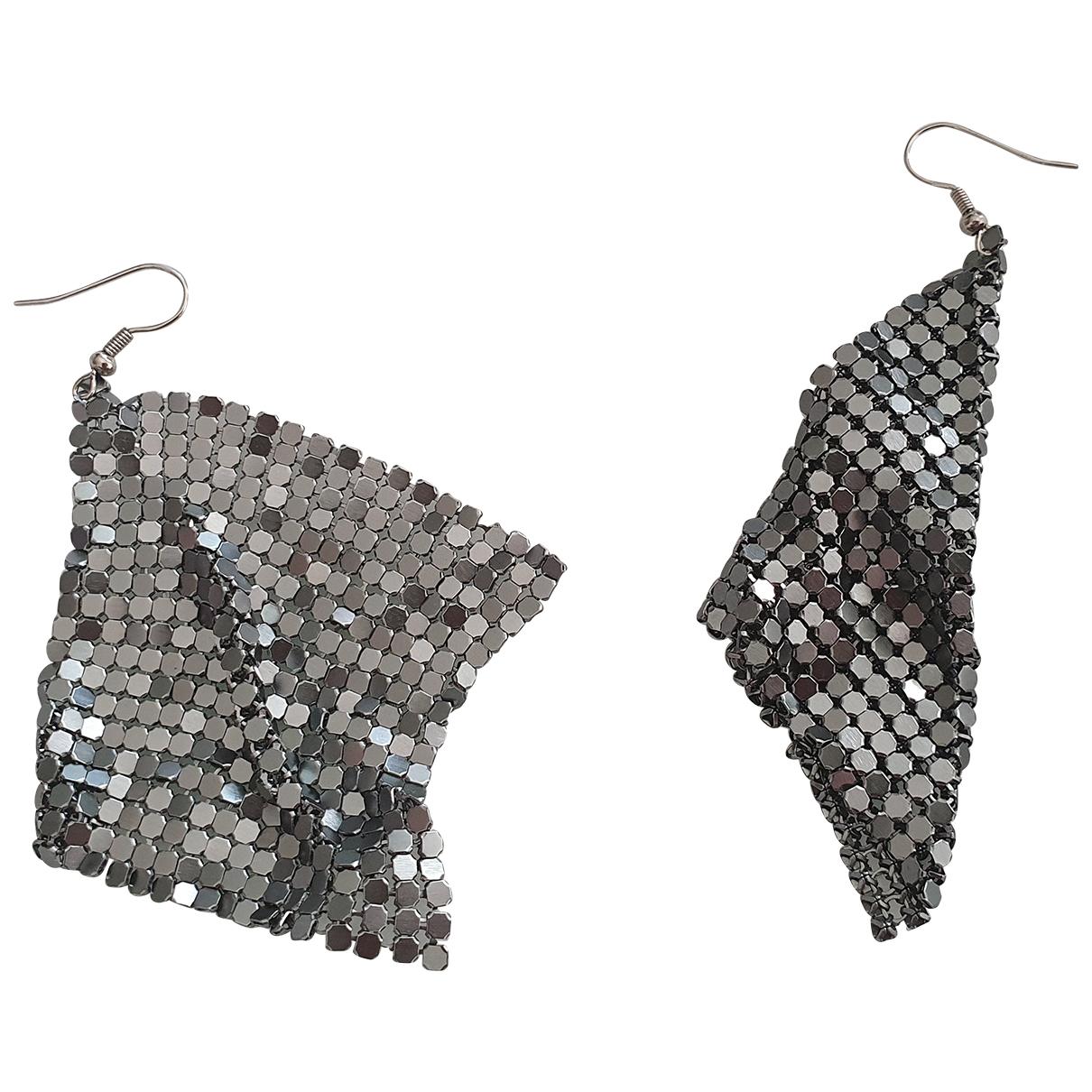 Zara N Silver Metal Earrings for Women N