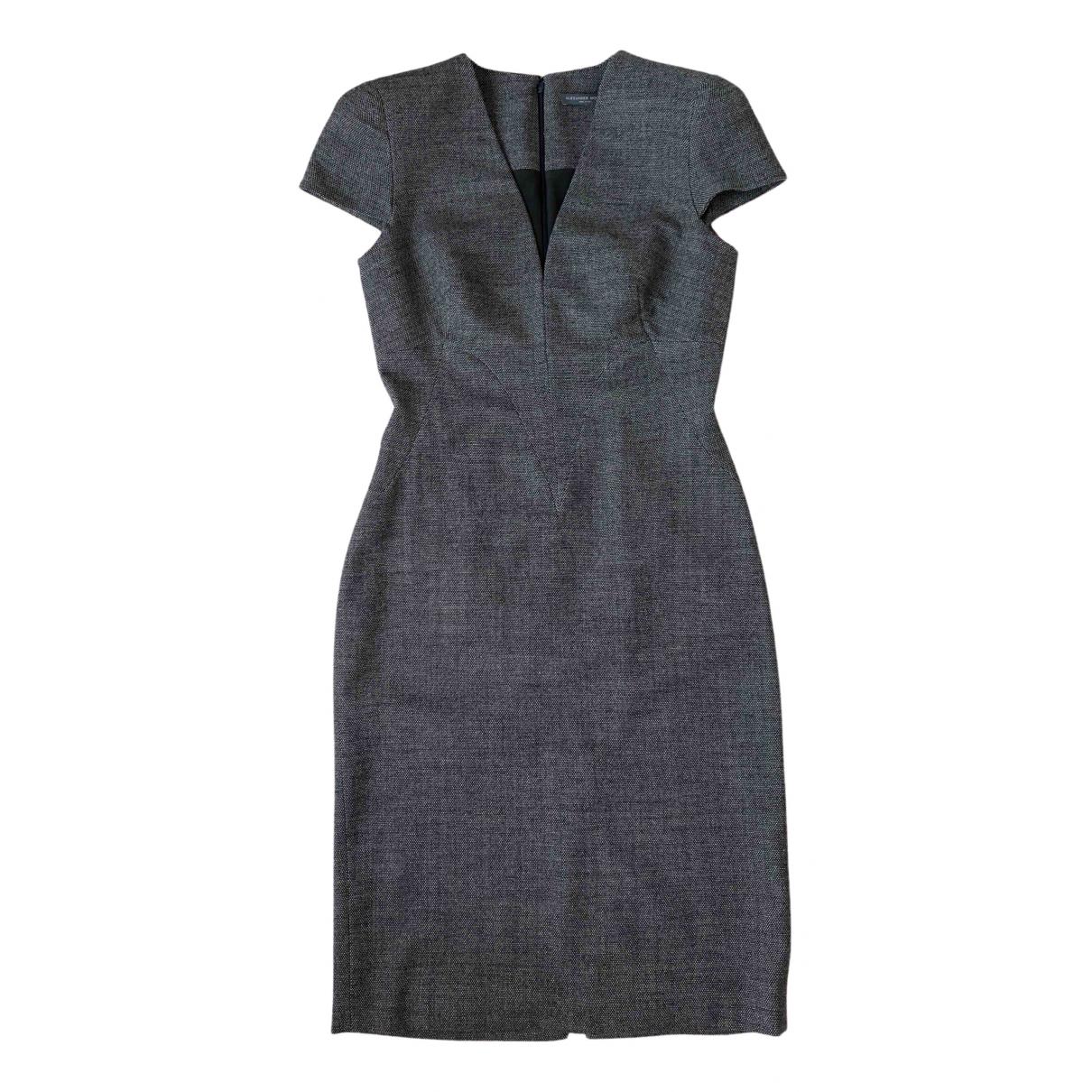 Alexander Mcqueen - Robe   pour femme en laine - anthracite