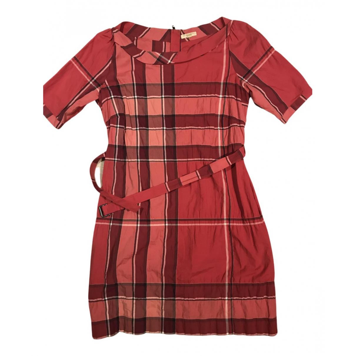 Burberry - Robe   pour femme en coton - rose