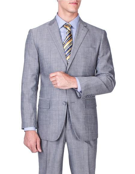 Men's Sharkskin Wool Single Breasted Giorgio Fiorelli Brand suits