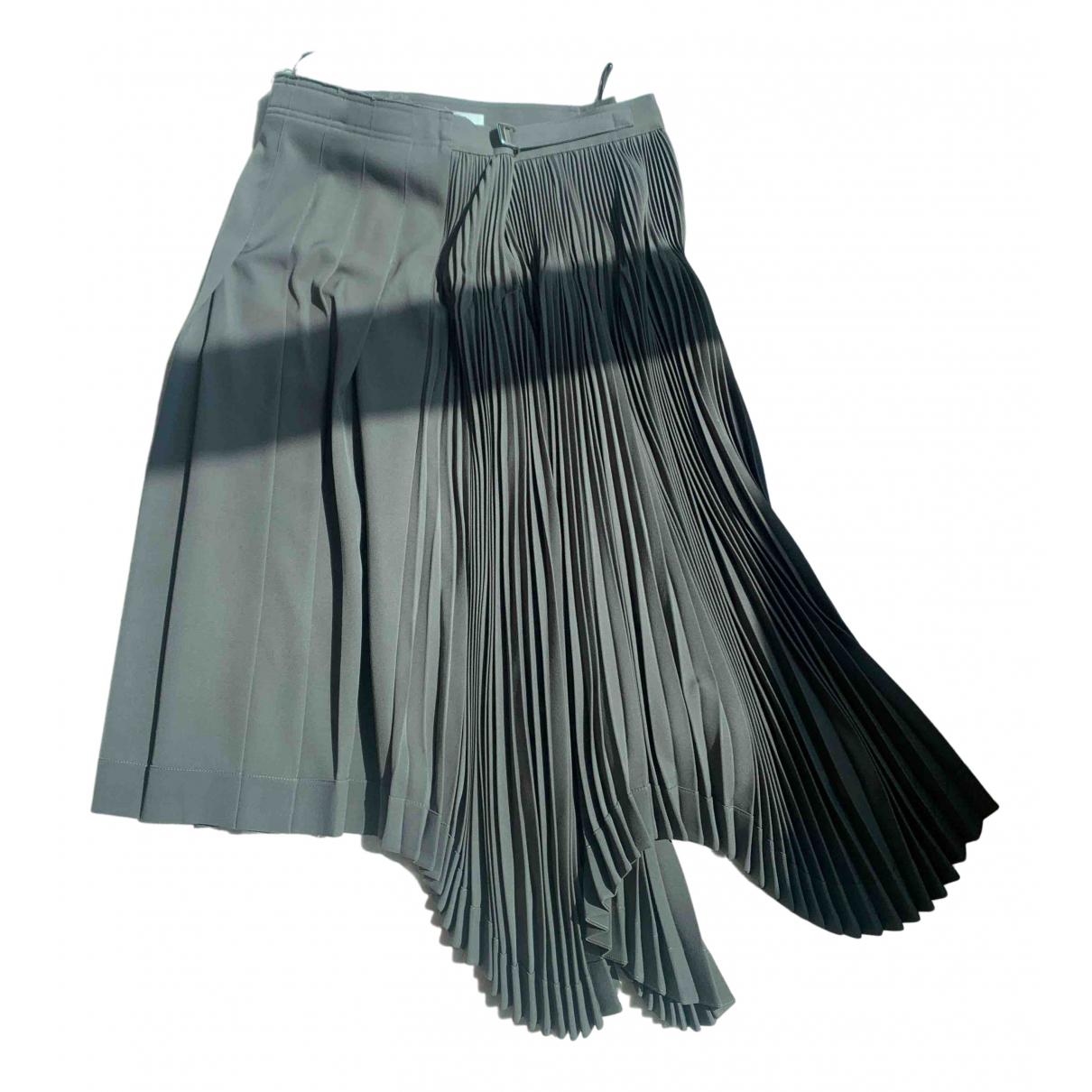 Celine N Grey Wool skirt for Women 36 FR