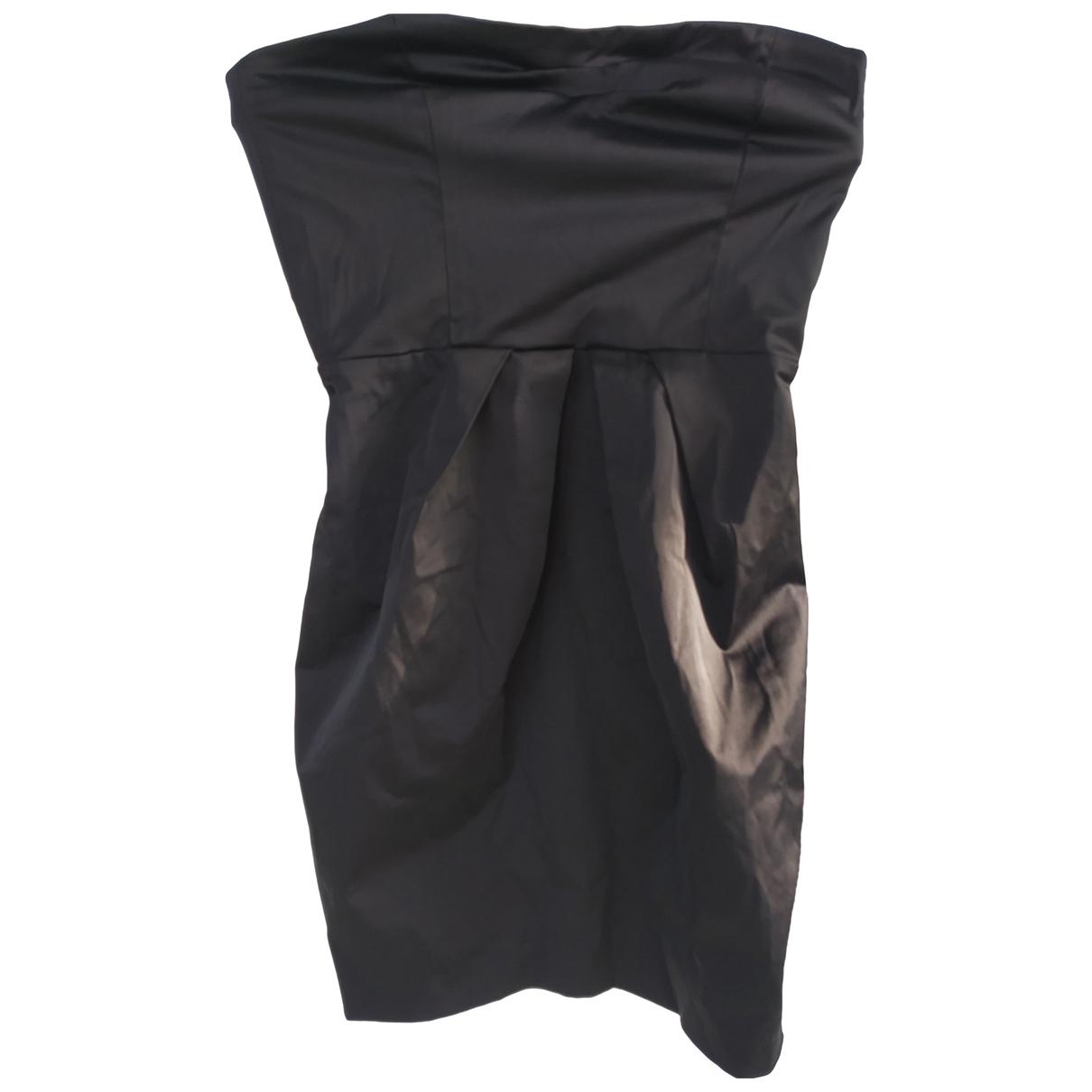Mango - Robe   pour femme en coton - noir