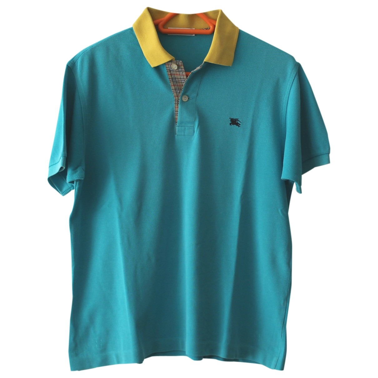 Burberry - Top   pour femme en coton - bleu
