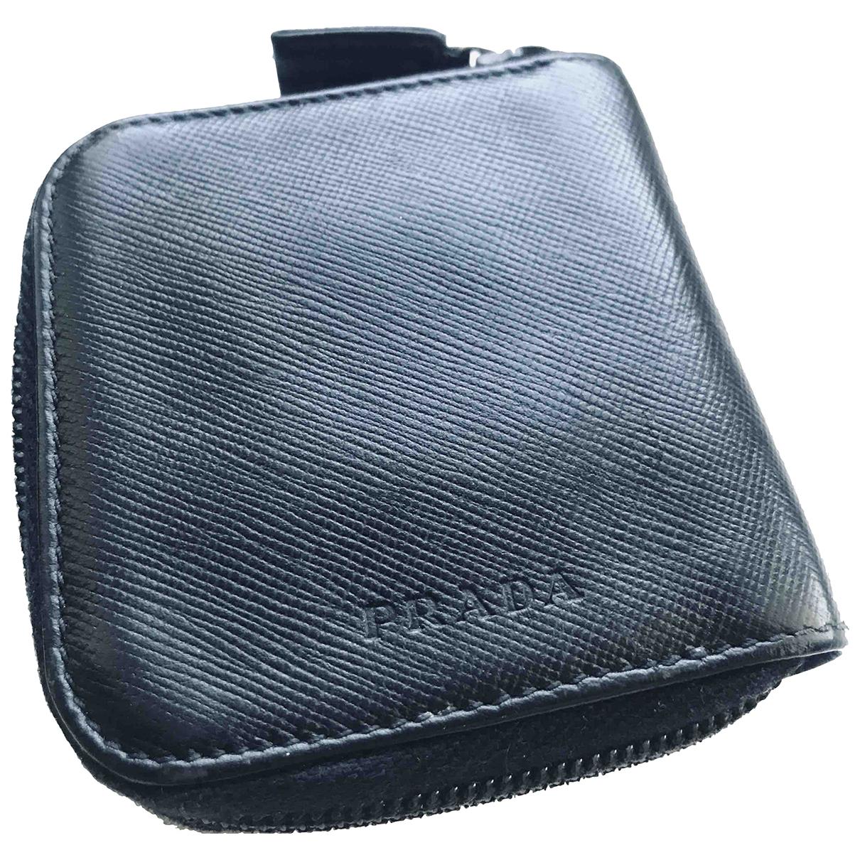 Prada \N Black Leather Small bag, wallet & cases for Men \N