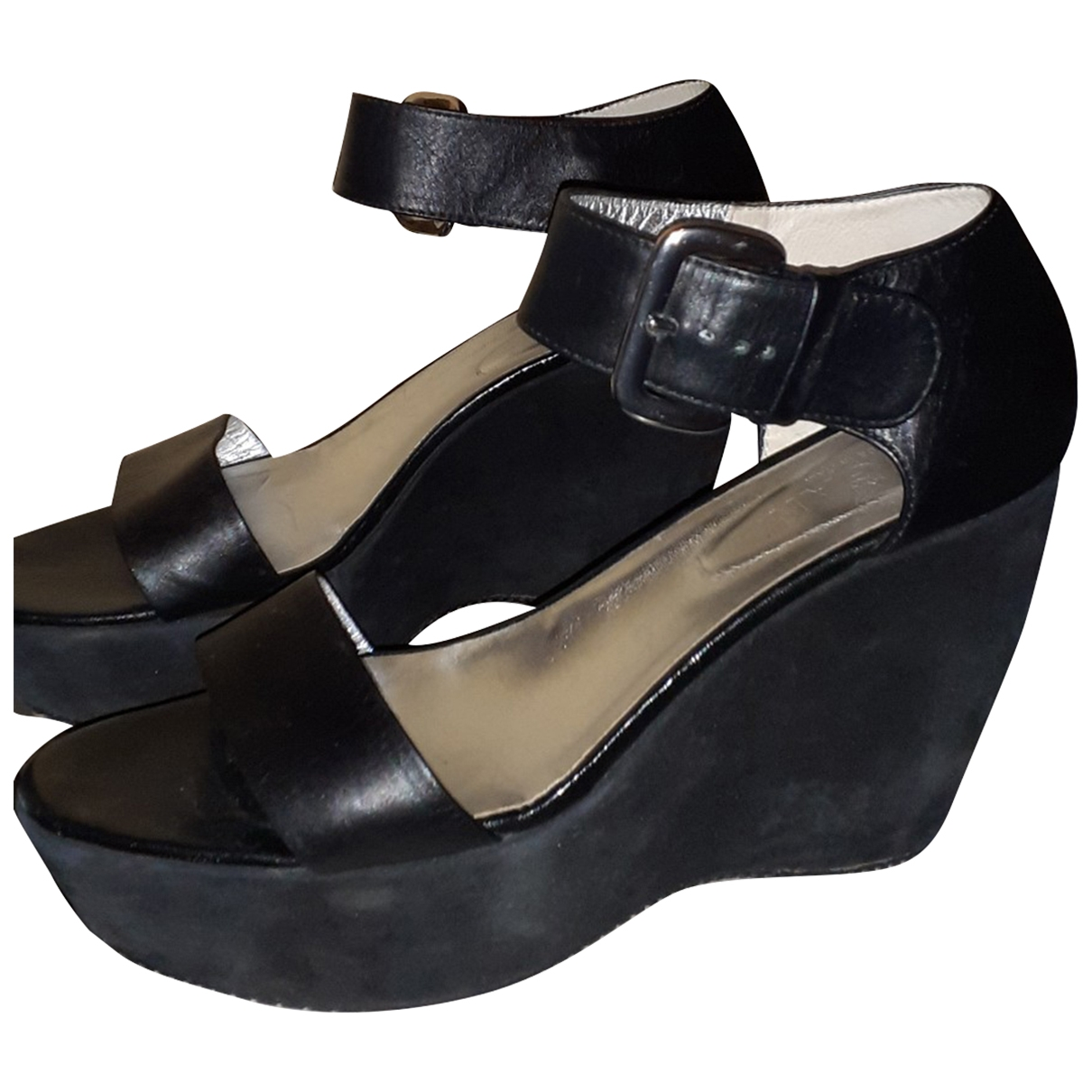 Hogan \N Black Leather Sandals for Women 39 EU