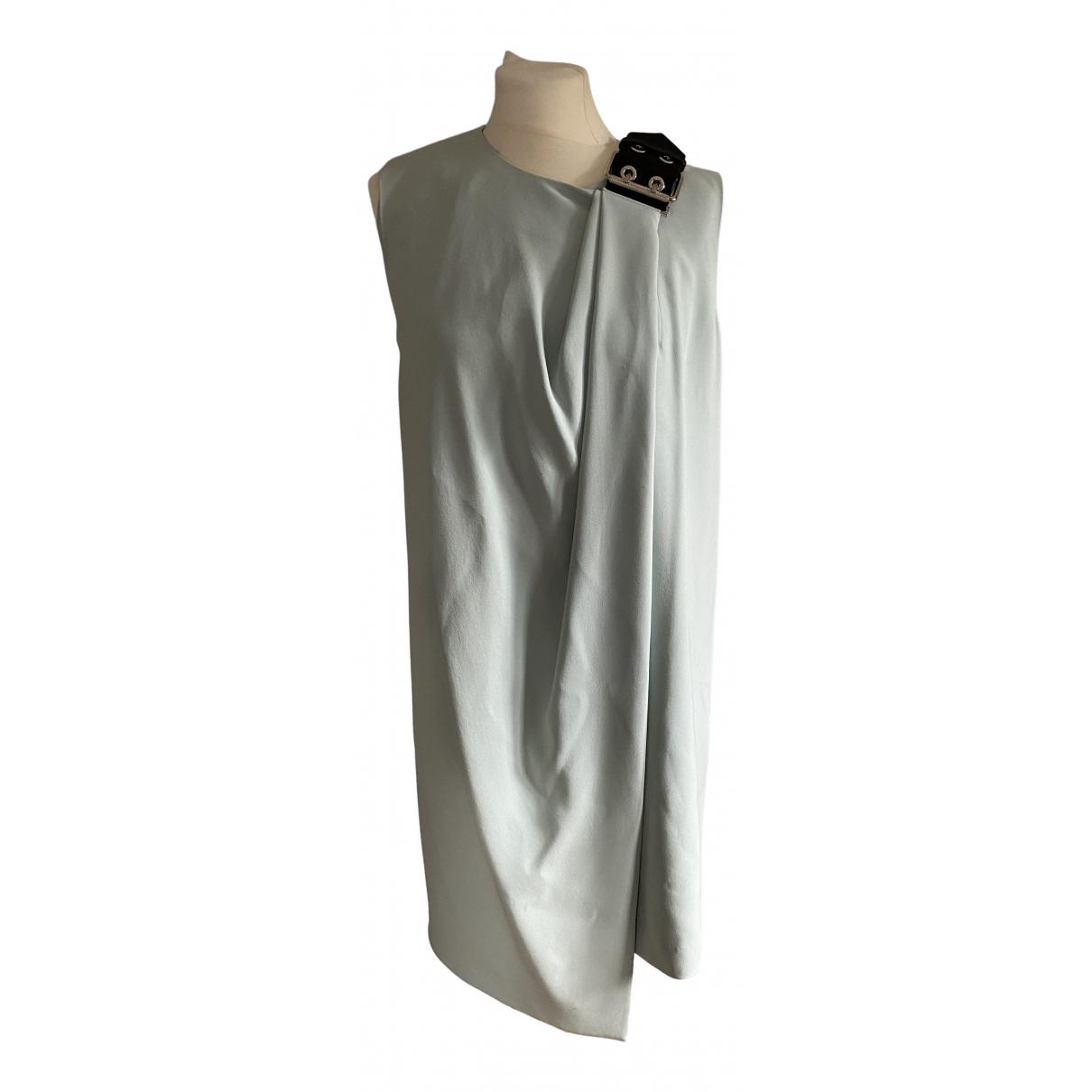 Balenciaga \N Kleid in  Tuerkis Seide
