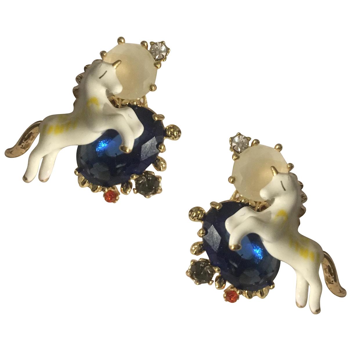Les Nereides - Boucles doreilles   pour femme en verre - bleu