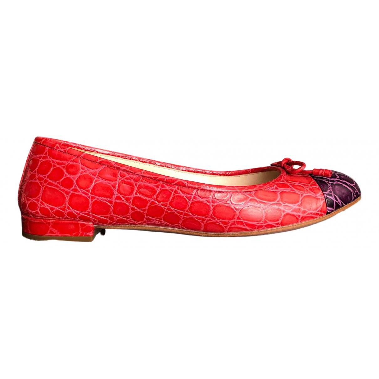 Prada - Ballerines   pour femme en cuir - multicolore
