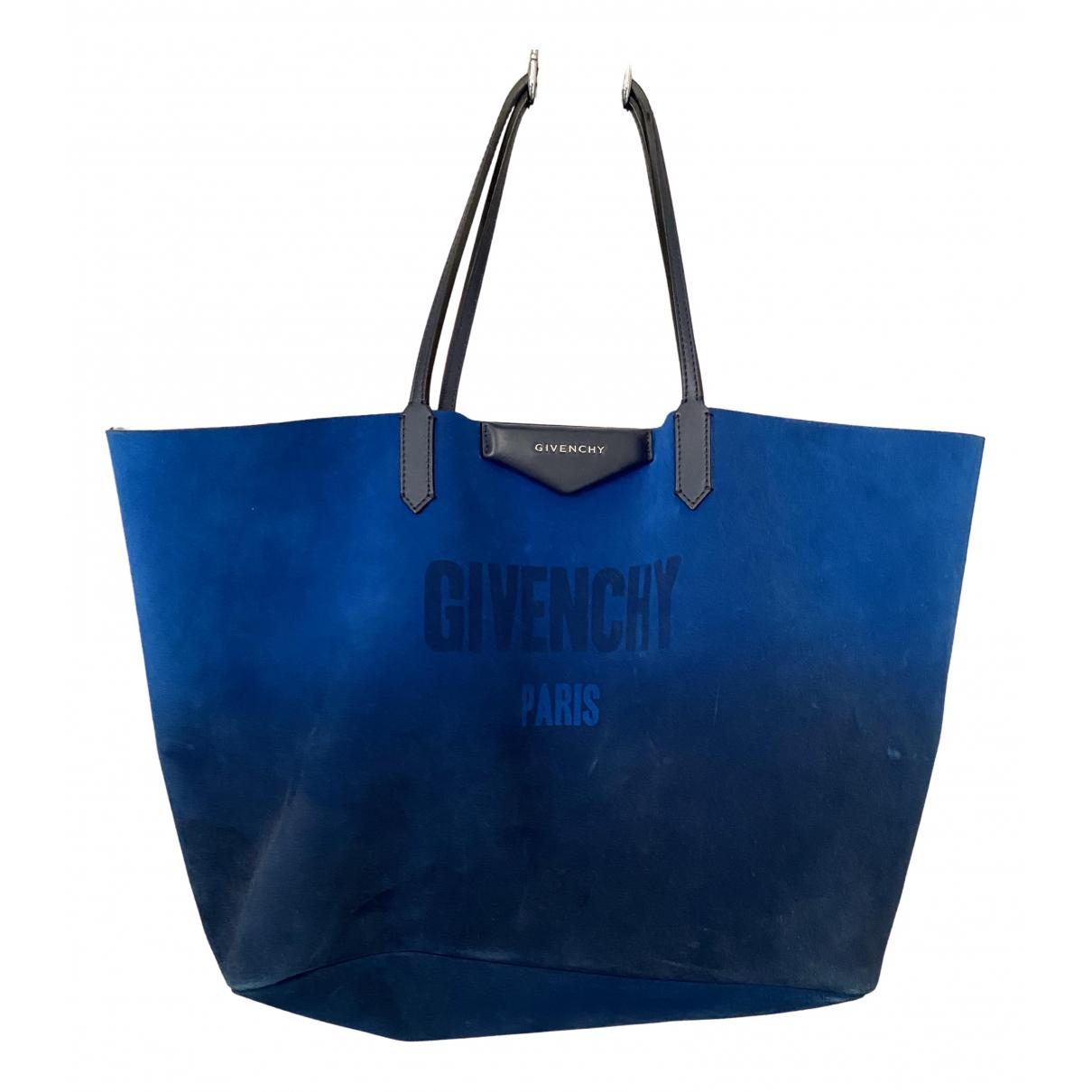 Givenchy Antigona Blue Suede handbag for Women \N