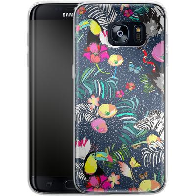Samsung Galaxy S7 Edge Silikon Handyhuelle - Jungle Glow von Mukta Lata Barua
