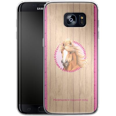 Samsung Galaxy S7 Edge Silikon Handyhuelle - Pferdefreunde Herzen von Pferdefreunde
