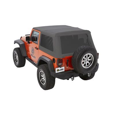 Bestop Trektop NX Glide Soft Top with Tinted Windows without Doors (Granite Gray) - 54922-70