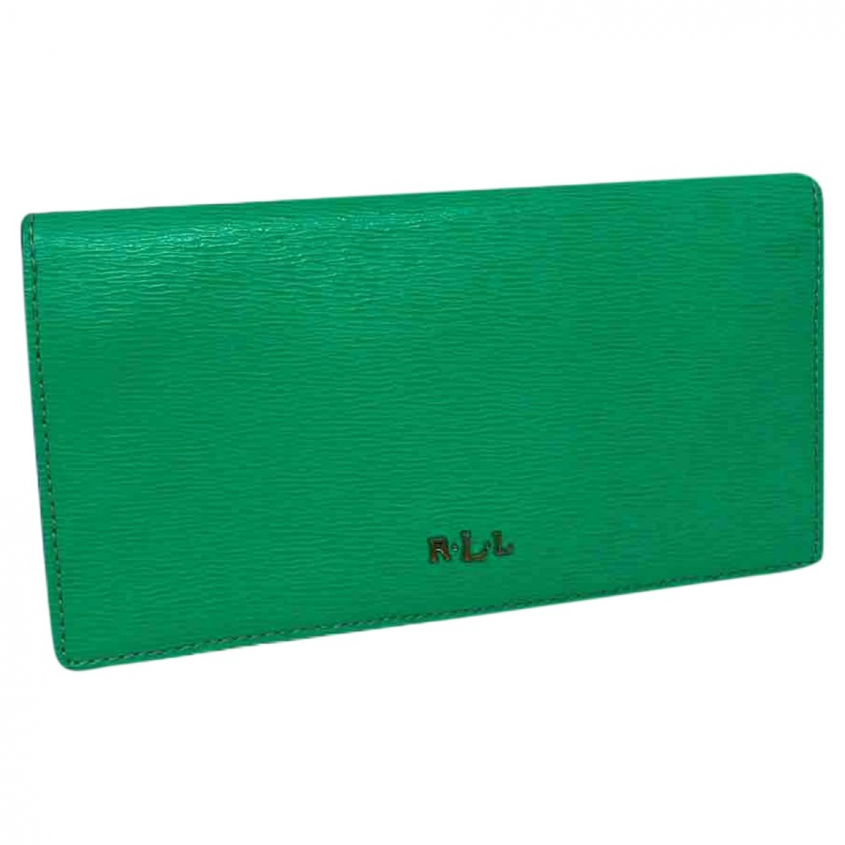 Ralph Lauren - Portefeuille   pour femme en cuir - vert