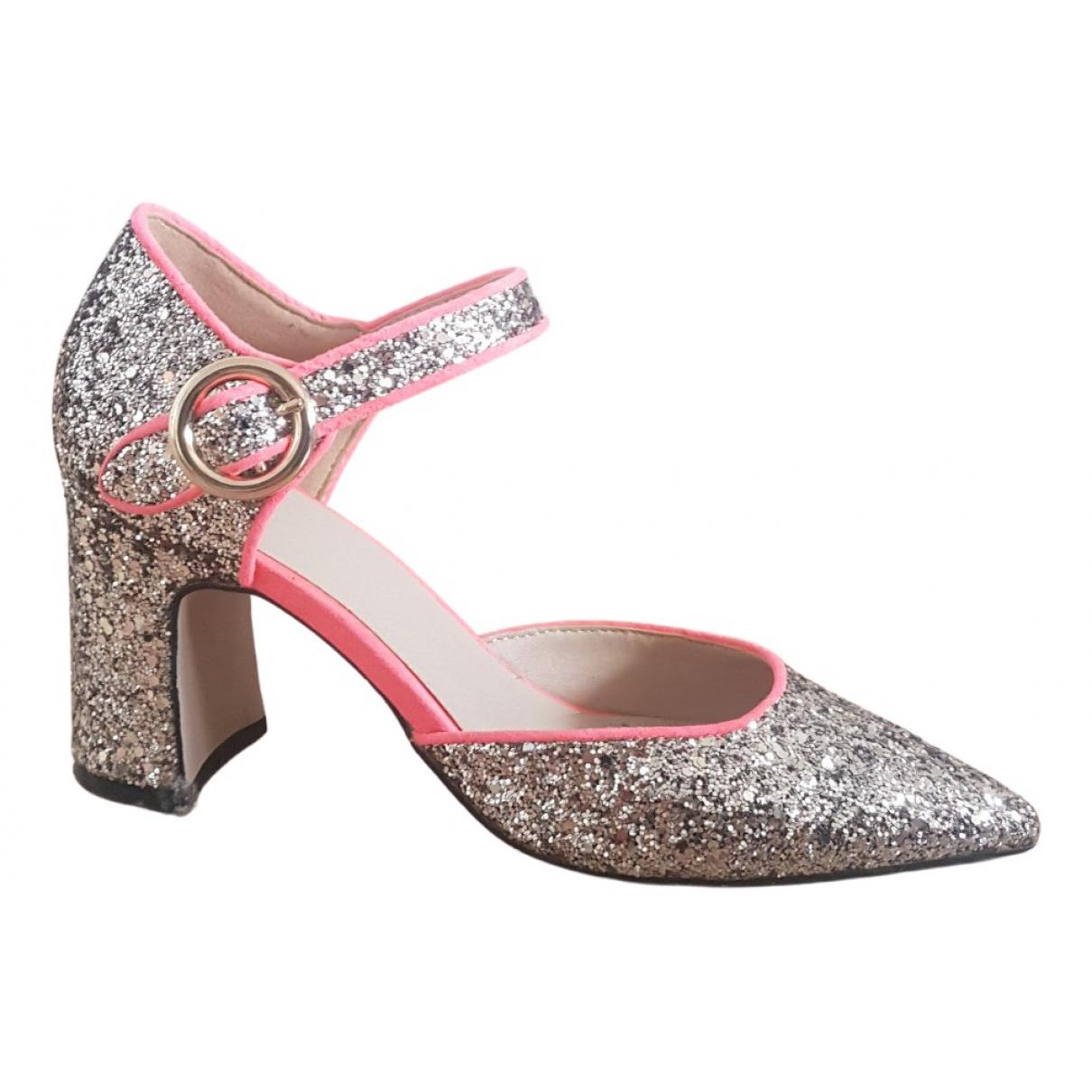 Asos N Silver Glitter Heels for Women 5 UK
