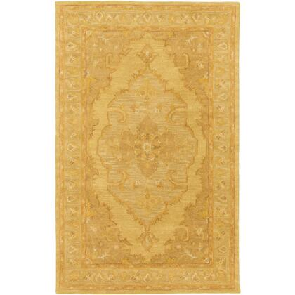 AWHR2059-35 3' x 5' Rug  in Mustard and Tan and