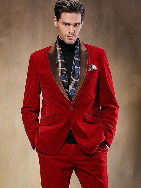 Red Velvet Suit
