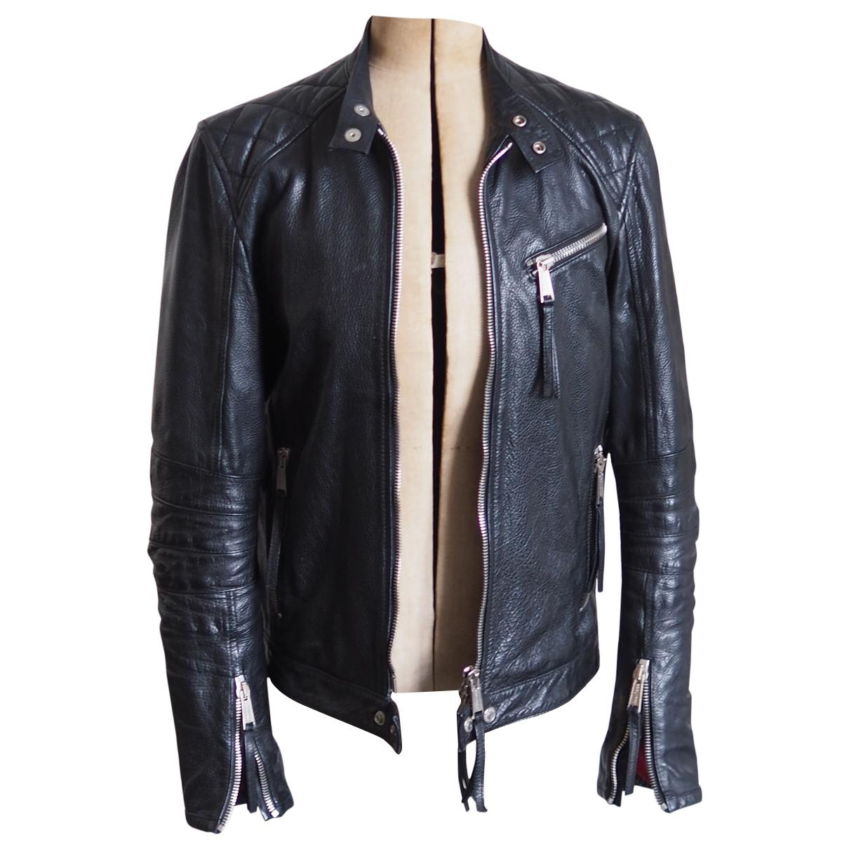 Dsquared2 \N Black Leather jacket  for Men 48 IT