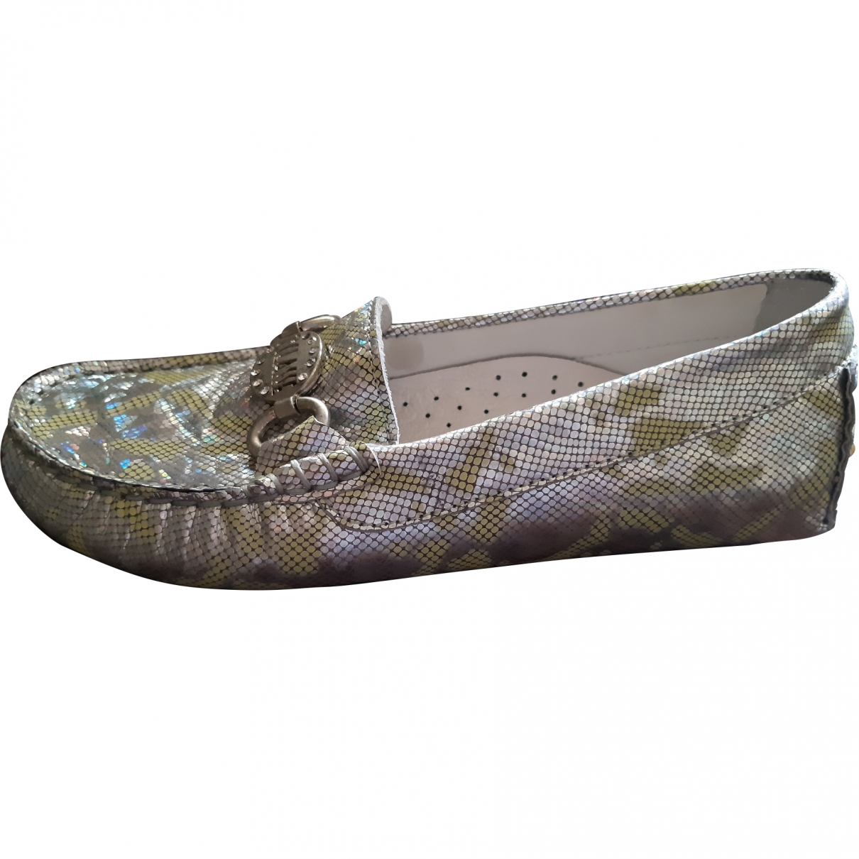 Non Signé / Unsigned \N Silver Leather Flats for Kids 31 EU