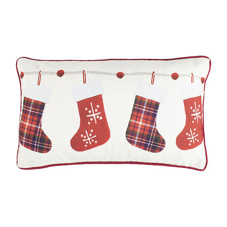 Safavieh Hollie Ivory Red Rectangular Throw Pillow, One Size , Beige