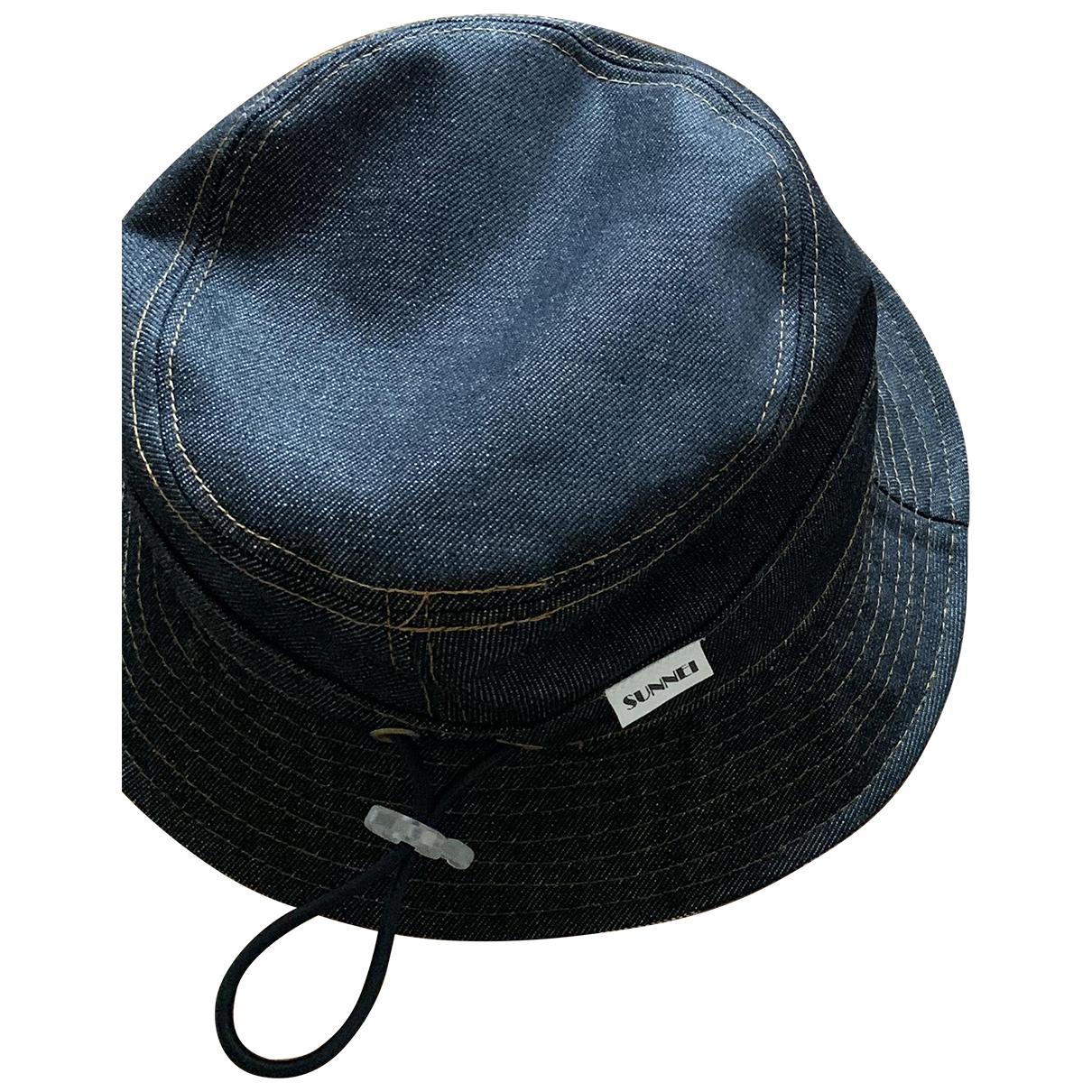 Sunnei - Chapeau & Bonnets   pour homme en coton - marine