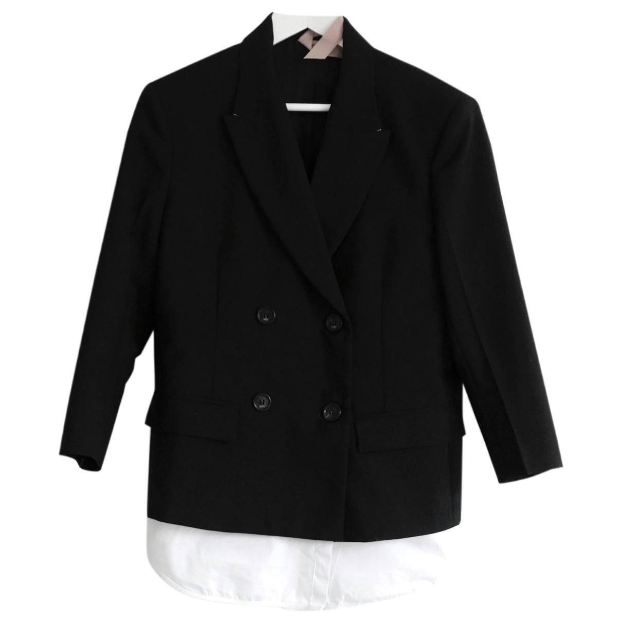N°21 \N Black Wool jacket for Women 38 IT