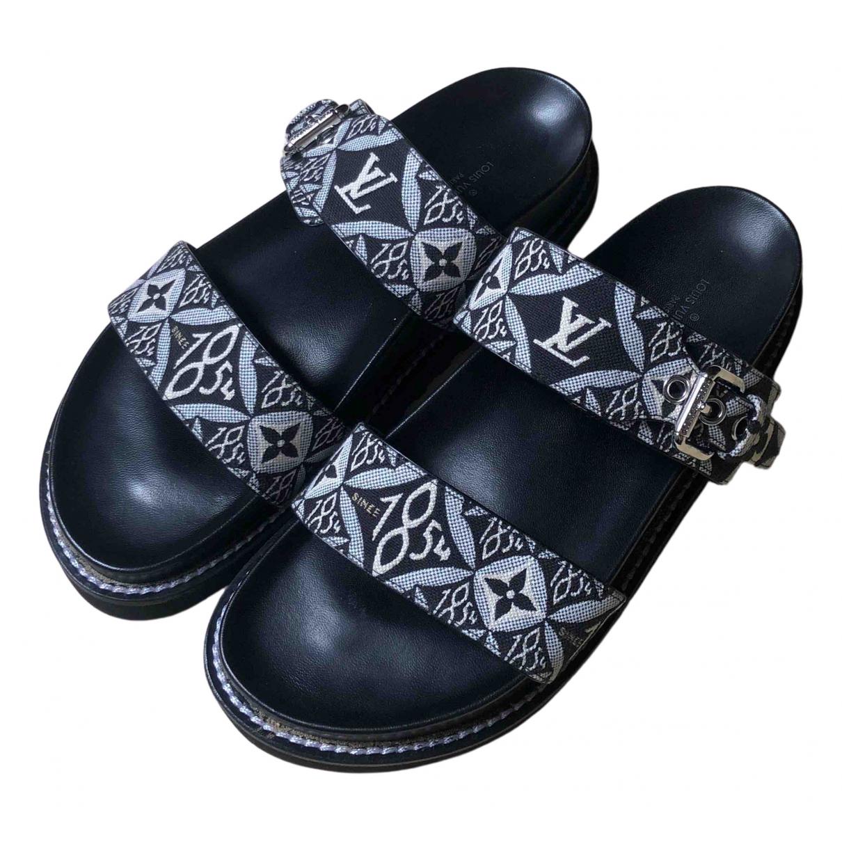 Louis Vuitton - Sandales Bom Dia  pour femme en cuir - noir