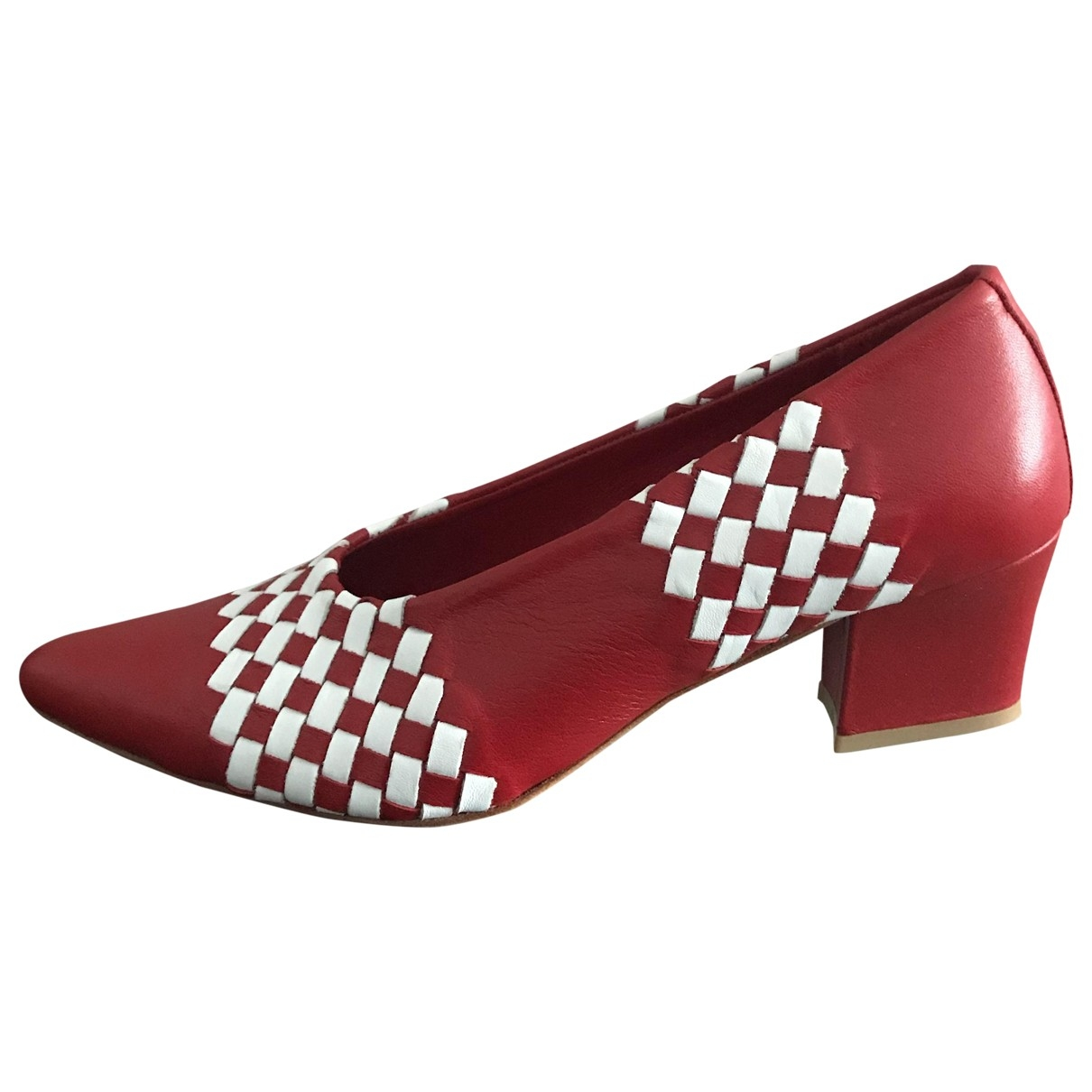 Maryam Nassir Zadeh - Escarpins   pour femme en cuir - rouge