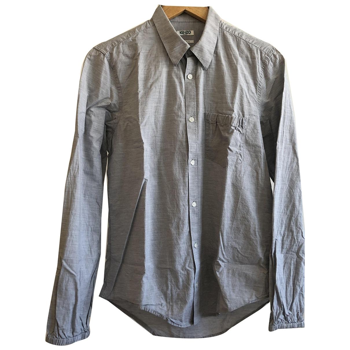 Kenzo \N Hemden in  Grau Baumwolle