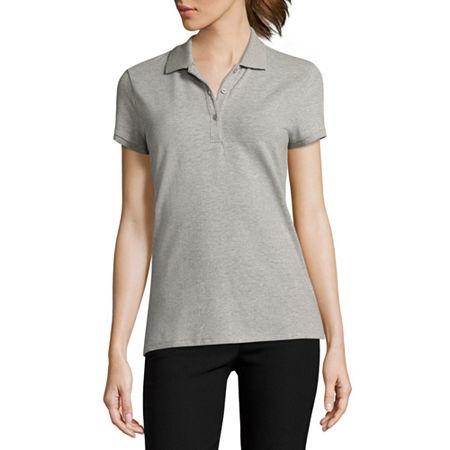 Arizona Short-Sleeve Polo Shirt, Small , Gray