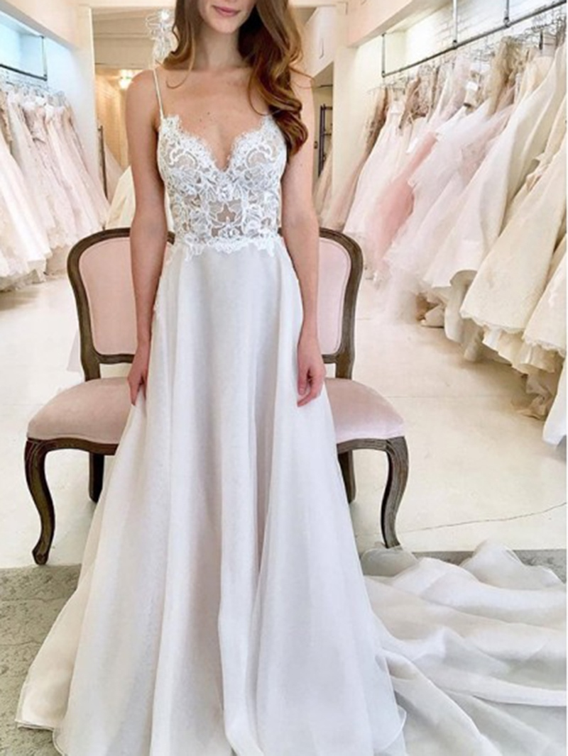 Ericdress Straps Lace Country Wedding Dress
