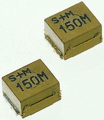 EPCOS , SIMID, 1210 (3225M) Wire-wound SMD Inductor with a Ferrite Core, 1 μH ±10% Wire-Wound 380mA Idc Q:20 (5)