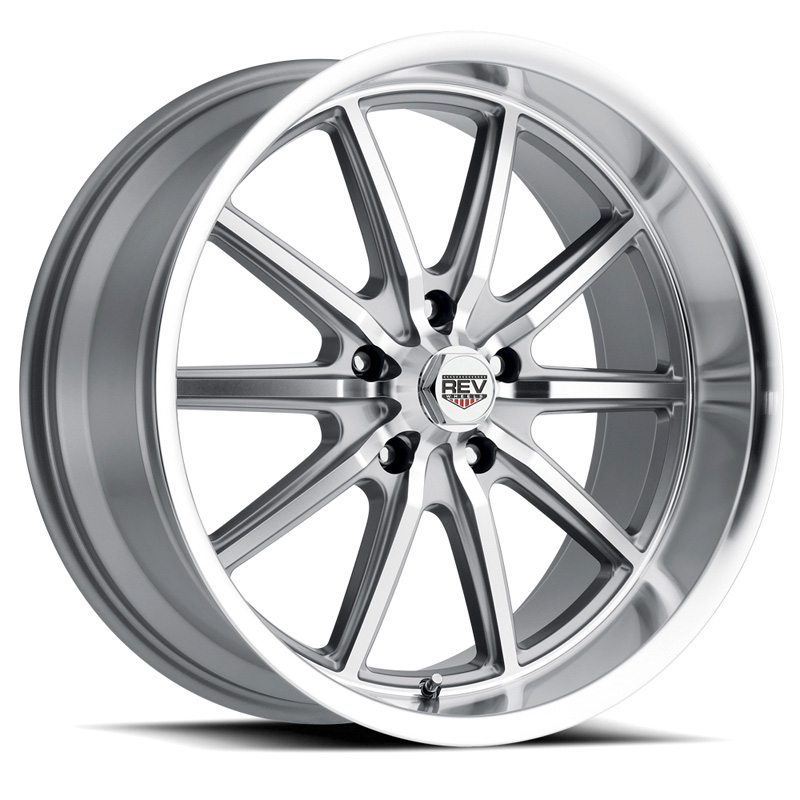 110 Classic Icon Series 17x8 5x114.3 0MM Anthracite Center And Machined Lip REV Wheel