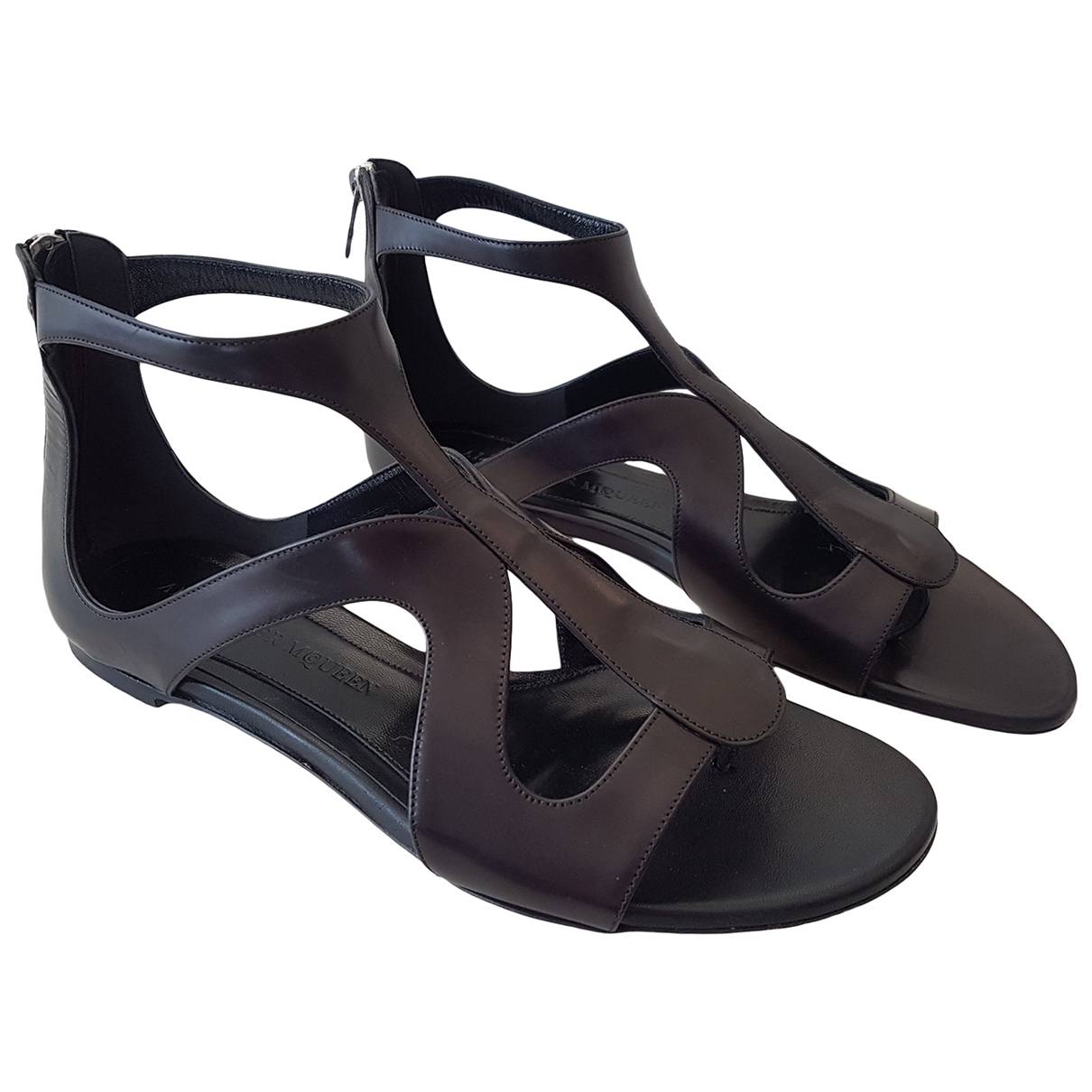 Alexander Mcqueen \N Black Leather Sandals for Women 41 EU