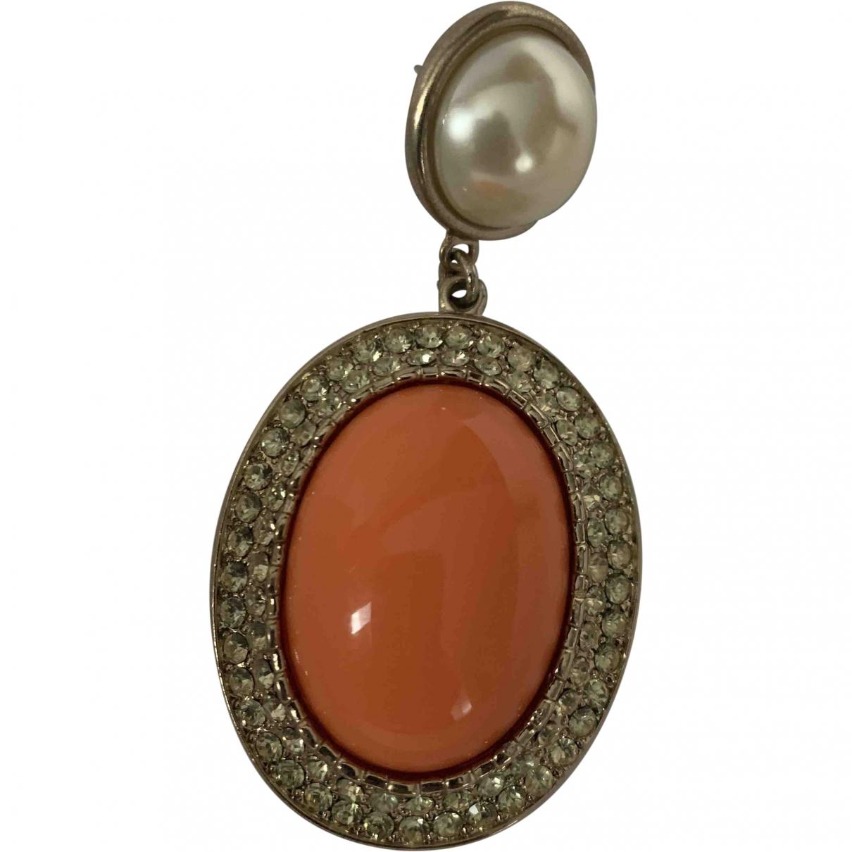 Anna Dello Russo Pour H&m \N Orange Metal Earrings for Women \N