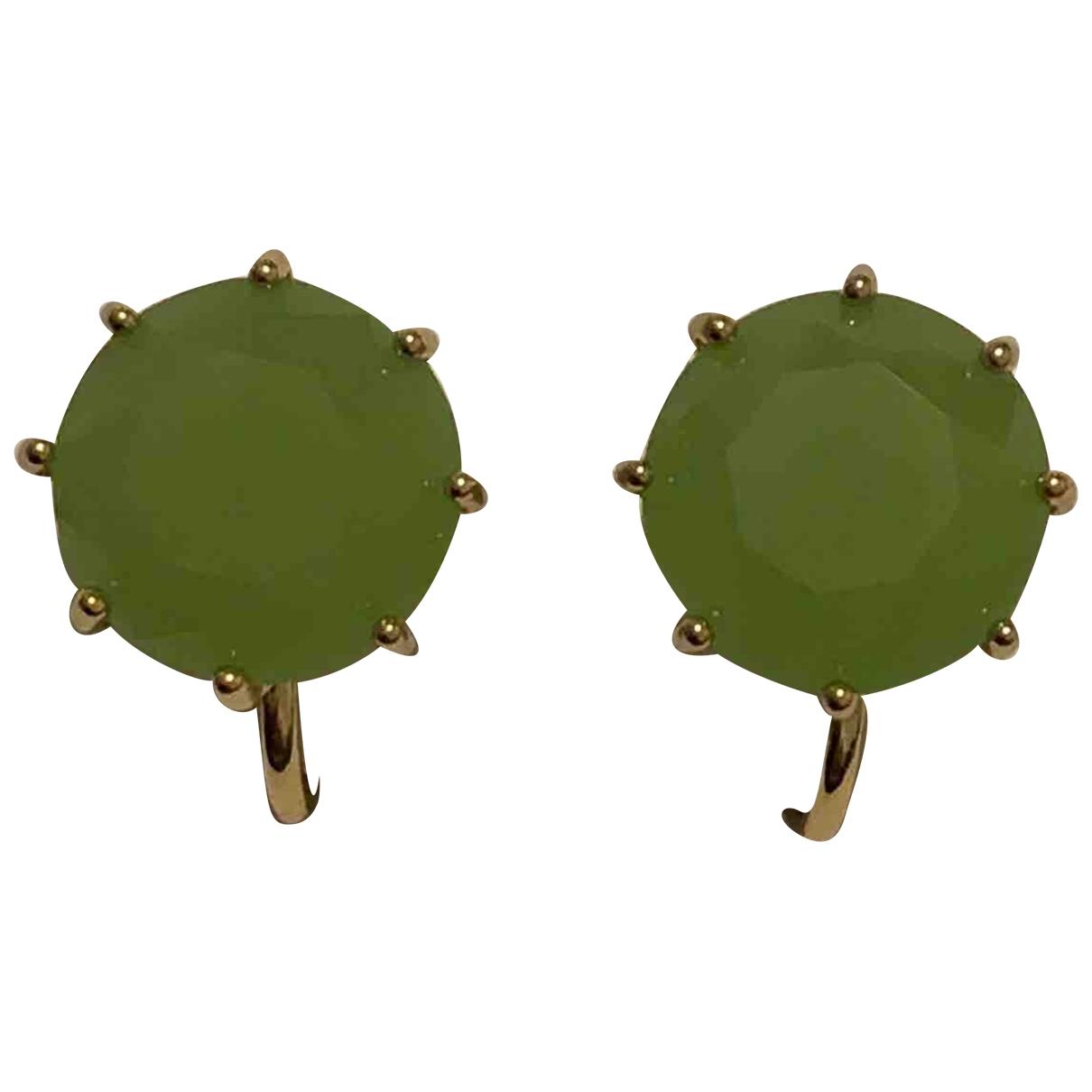 Les Néréides \N Gold Metal Earrings for Women \N